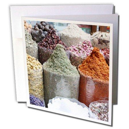 Albom Design Travel - Colorful Spices in the Souks, Dubai, UAE Photo by Rhonda Albom - 12 Greeting Cards with envelopes (gc_164765_2)