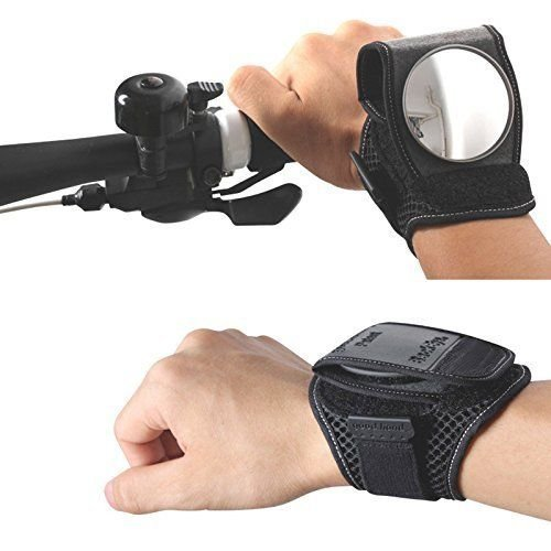Wiel 1Pc Adjustment Wild Vision Rear View Wrist Guards Glove with Built-in Back Mirror for Bike Cycling