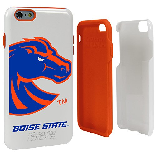 (Guard Dog NCAA Boise State Broncos Hybrid Case for iPhone 6 Plus, White, One Size )