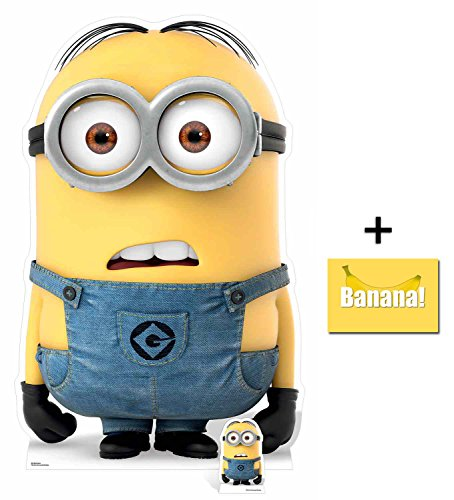 Fan Pack - Dave Minion Despicable Me 3 Minions Lifesize and Mini Cardboard Cutout / Standup / Standee - Includes 8x10 Star Photo