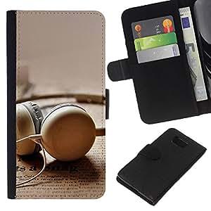 All Phone Most Case / Oferta Especial Cáscara Funda de cuero Monedero Cubierta de proteccion Caso / Wallet Case for Samsung ALPHA G850 // Earplug