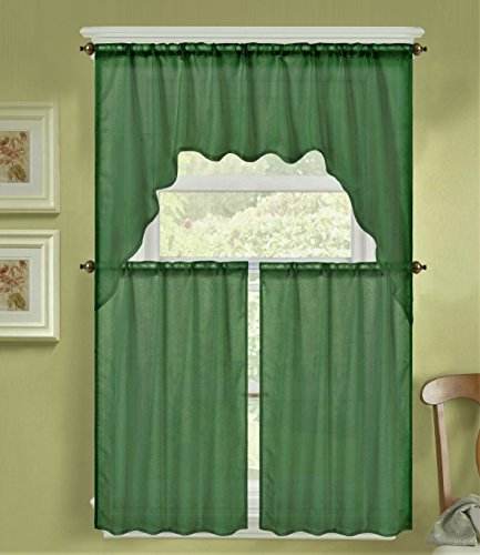 Green Kitchen Curtain Ideas: Hunter Green Kitchen Curtains