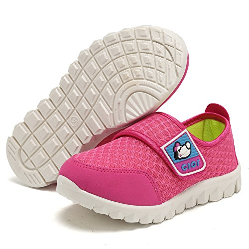 CIOR Kid's Mesh Lightweight Sneakers Baby Breathable Slip-On For Boy and Girl's Running Beach Shoes(Toddler/Little Kid) 35