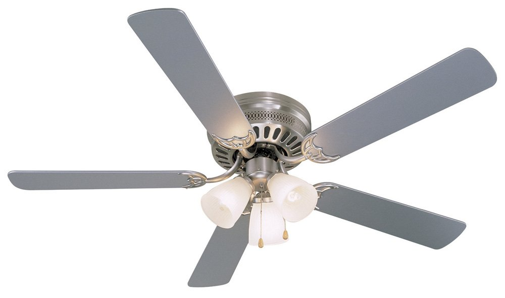 Hardware House 41-5893 Bermuda 52-Inch Flush Mount Ceiling Fan, Silver or Washed Pine