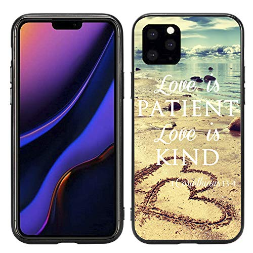 Love is Patient Love is Kind with Hearts On Beach for iPhone 11 Pro 5.8 2019 Case Cover by Atomic Market (The Best Phone On The Market 2019)