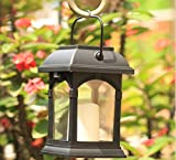 ZJQTT Garden Candle Light - Solar Powered - Blinking Effect - Amber LED - by Holiday Lights,mediumwithrod