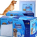 Gardner Pet THE BEST Super-Absorbent 24 by 24 Inches Dog Training Pads - 2 Count of Pads