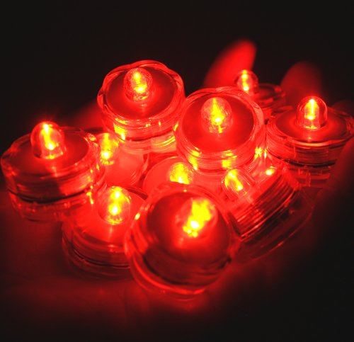 - Bluedot Trading LED Battery Operated Submersible Tea Lights, Orange