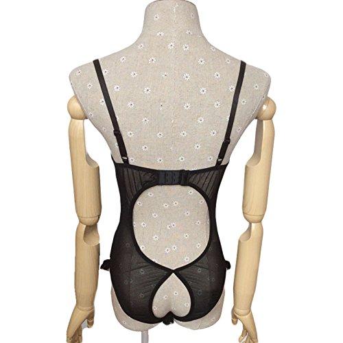 6f6876203db DDU(TM) 1Pc Black- Sexy Lace Open Bra Crotch See-through Underwear Lingerie  Underclothes Sleepwear Nighty Lovers Gift