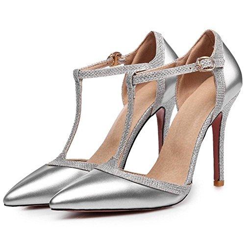 Aiguille AicciAizzi Femmes Escarpins Talons Silver Chaussures Salomes Hn6tPqwxnZ