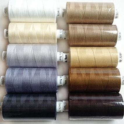 Hemline 100/% Polyester Sewing /& Overlocking Thread 1000m Spool NAVY BLUE