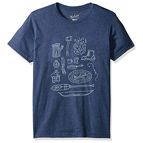 (Woolrich Men's Hayes Run Heather Graphic Made in USA Tee, Outdoor Gear, Large )