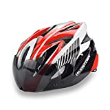 Micnaron Road Bike Helmet, Cycling Airflow Helmet Detachable Goggles Adjustable Shield Visor