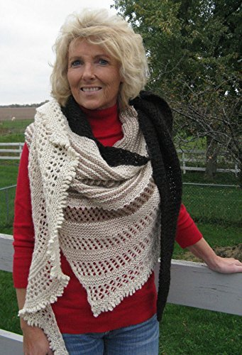 Hand knit Alpaca and Wool Shawl by North Star Alpacas