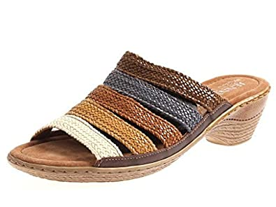 a40b269957f08 JENNY par Ara Mule chaussures en cuir pour femmes Chaussons Multicolore  Sabots 4330 - Bariolé,