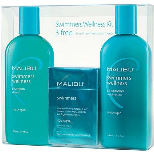 Malibu nadadores Wellness tratamiento Kit, 9 oz Shampoo, acondicionador de 9 oz y 0.17 oz tratamiento bienestar