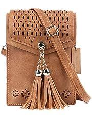 AnsTOP Women Small Purses Crossbody, Tassel Cell Phone Bag Holder Wallet