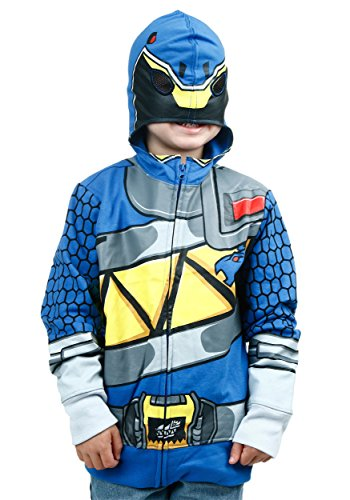 Freeze Kids boys Power Rangers Dino Charge Blue Ranger Costume Hoodie Size 5/6 (Blue Power Ranger Costume)