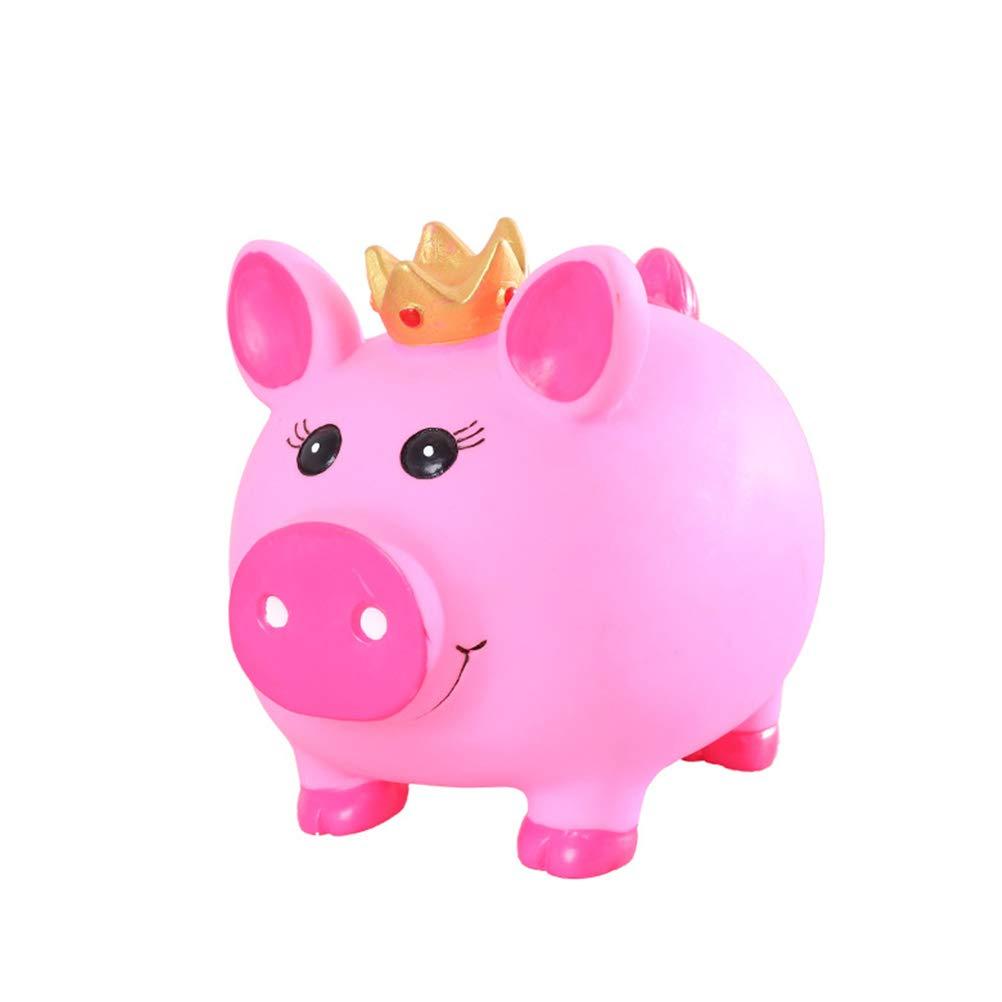 STOBOK Piggy Bank-Creative Crown Pig Coin Bank Cute Piggy Bank for Kids Gifts 2Pcs,Pink