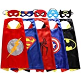 ReachMe Superhero Dress Up Costumes Cape Mask Set Halloween Costume Party Cloak