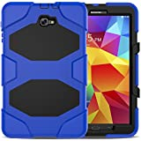 Shockproof Dust-Proof Hard Armor Heavy Duty Design with Kickstand Protective Case for Samsung Galaxy Tab A 10.1'' [SM-T580 / SM-T585] (Blue)