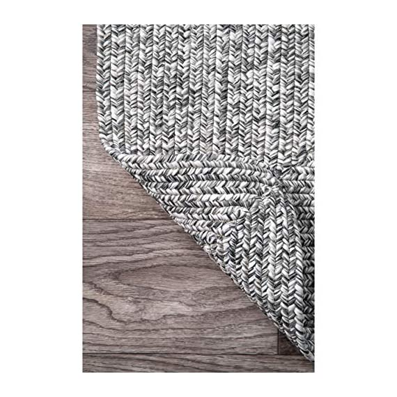 "nuLOOM Lefebvre Braided Indoor/Outdoor Runner Rug, 2' 6"" x 6', Salt and pepper - Style: Contemporary, Solid & Striped, Outdoor, Coastal Material: 100% Polypropylene Weave: Braided - runner-rugs, entryway-furniture-decor, entryway-laundry-room - 516bnTpKxNL. SS570  -"