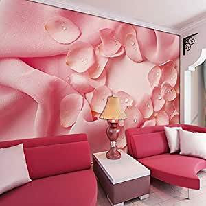 Comercio al por Mayor de Tela Rosa Flor de Rosa Mural Pared 3D Murales Foto Papel Tapiz Lavable para Wedding Room 3D Pared Mural Pared Fresco-200x140cm: ...