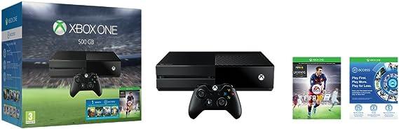Microsoft Xbox One 500GB + FIFA 16 + EA Access - videoconsolas (Xbox One, Unidad de disco duro, Negro, 802.11a, 802.11b, 802.11g, 802.11n, DDR3, AMD Radeon): Amazon.es: Videojuegos
