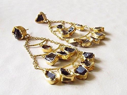 Smoky Quartz Chandelier Earrings - 4