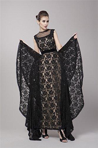 Cotylédons De Noir Sans Manches Robe De Bal Des Femmes En Robes De Soirée
