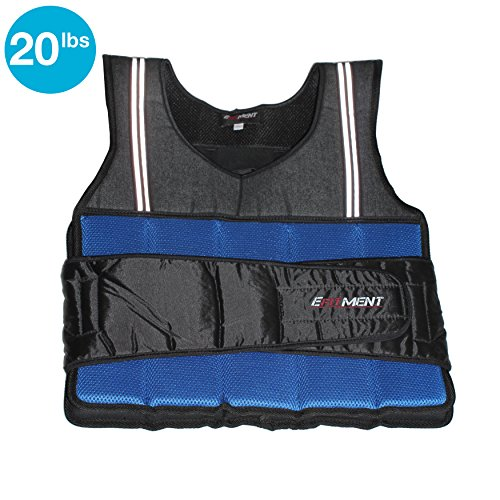 EFITMENT Adjustable Weighted Vest for Fitness (12 40lbs)