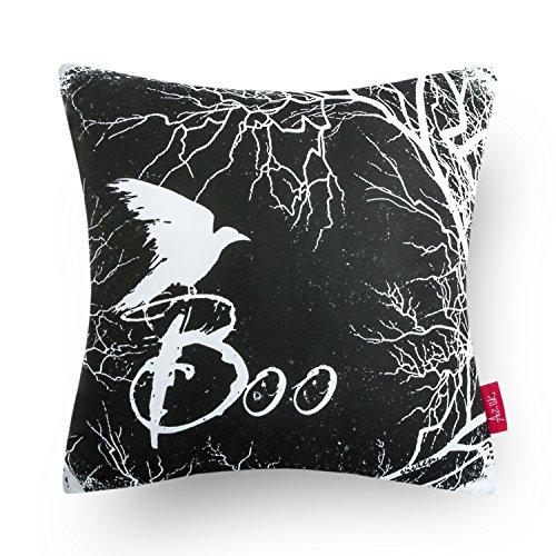 Halloween Decor Discount (Ashler Halloween Throw Pillow Cover 18 Inch (Crow))