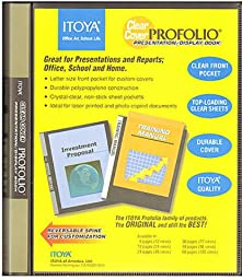 Itoya Clear Cover Portfolio Presentation Books - 48 Pages - 96 Views 1 pcs sku# 1842117MA