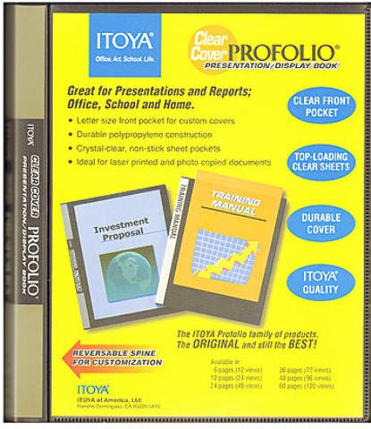 Itoya Clear Cover Portfolio Presentation Books - 48 Pages - 96 Views 1 pcs sku# 1842117MA by ITOYA (Image #1)