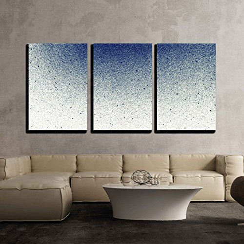 "Wall26 - 3 Piece Canvas Wall Art - Abstract Splatted Background - Modern Home Decor Stretched and Framed Ready to Hang - 16""x24\""x3 Panels"