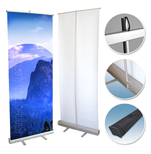 24x79 Retractable Banner Stand Roll Up Trade Show Display, Free Banner Printing -
