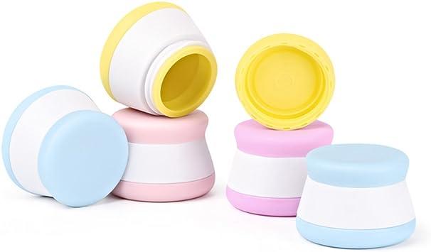 4 Morceaux Holzsammlung Bo/îte Vide de Rangement Maquillage Cr/ème Gel Pots 20 ml Silicone Bo/îte Cosm/étiques avec Couvercle Scell/és pour Cr/ème///échantillon//Ongles//Fard /à Paupi/ères Poudre