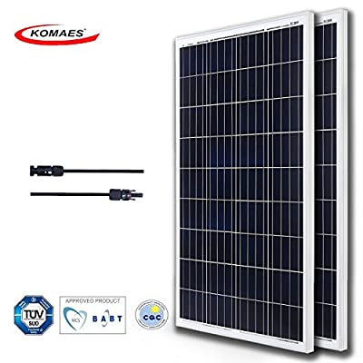 KOMAES 200 Watts 12 Volts Polycrystalline Solar panel