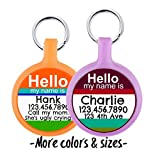 Silent & Lightweight Eco-Plastic Hello My Name Is'' Pet ID Tag