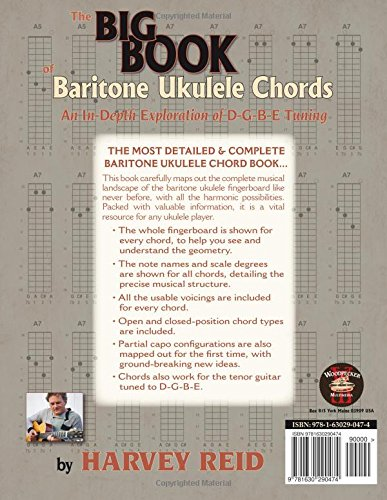 Amazon The Big Book Of Baritone Ukulele Chords An In Depth