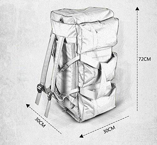 Escursioni all' aperto zaino da viaggio zaino maschio impermeabile borsa da viaggio da donna grande capacità zaino