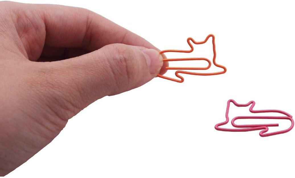50 St/ück. niedliche Katzen-Zubeh/ör 50 Pieces Mehrfarbig Katzenform Geschenk f/ür Katzenliebhaber verschiedene Farben Gullor s/ü/ße Papierklammern