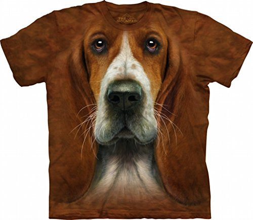The Mountain Men's Basset Hound Head T-Shirt XL