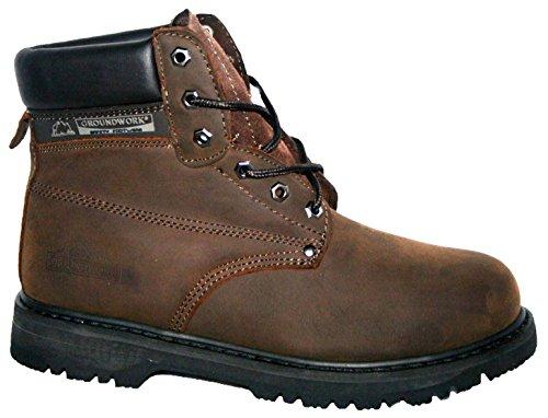 Footwear Sensation - Herren Groundwork Schnür Stahlkappen Sicherheits Knöchelstiefel 41 - 45 Braun