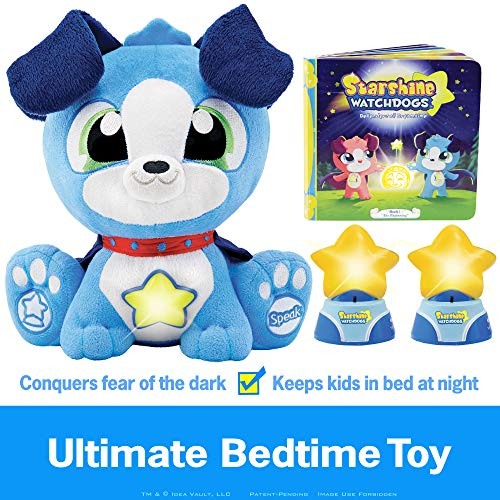 Stuffed Light Animal Night (Starshine Watchdogs Orion Light-Up Talking Plush Bedtime Toy, Remote Control Kids Night Lights, Comforting Phrases, Calming Children's Storybook. 4pc Ready-for-Bed Set. Plus Free Coloring Pages!)