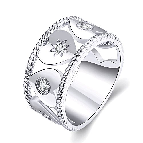 Champagne Colored Costume Jewelry (Women's New Exquisite Fashion Jewelry Hot Sale Platinum Heart-shaped Diamond Ring)