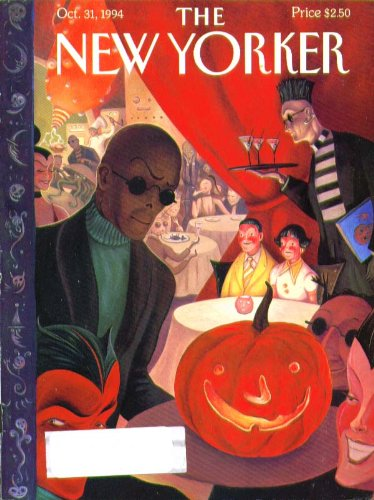 New Yorker cover Halloween nightclub scene 10/31 1994 -
