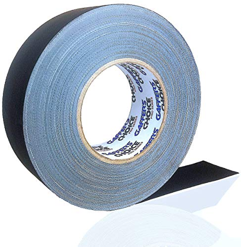 Gaffer Tape Gaffer's Choice Ultra - Black Gaffers Tape 2 Inch x 60 Yard - The Biggest ROLL - Heavy Duty Tape - Easiest to Tear Cloth Tape