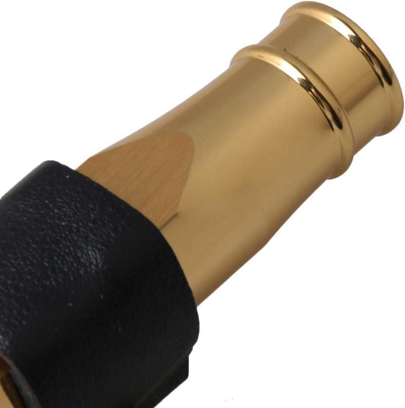 JAZZ tenor saxophone mouthpiece 7# leather clip cap set gold