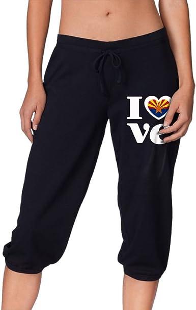 Amazon Com Pantalones De Yoga Para Mujer Power Flex Jogger Love Arizona 1 Clothing